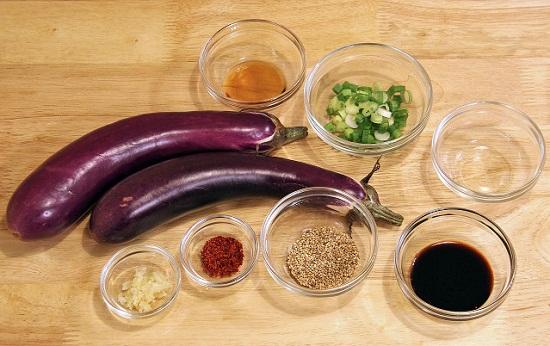 Nguyên liệu làm cà tím nhồi thịt hấp