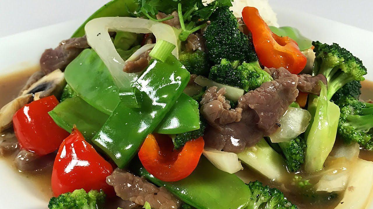 món ngon hàng ngày với súp lơ xào thịt bò