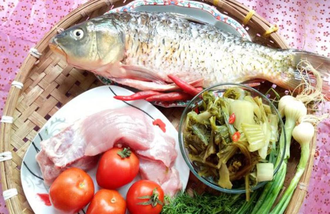 Nguyên liệu nấu canh cá dưa chua